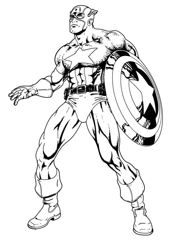 superhero captain america coloring pages for kids captain