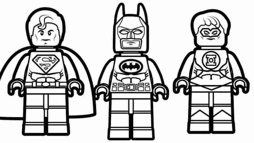 superhero coloring pages easy lego superhero batman coloring
