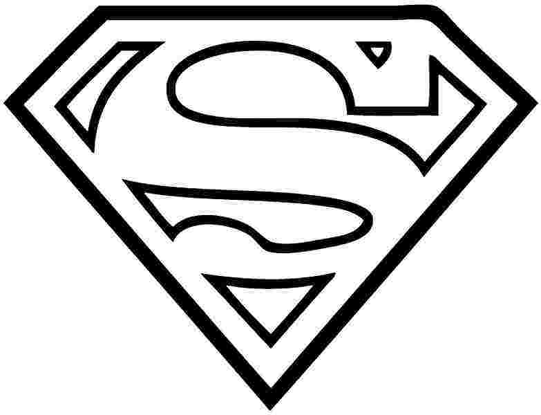 superhero emblem coloring pages superman logo coloring pages