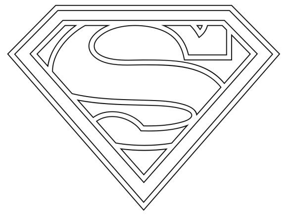 superman logo coloring pages free superman coloring pages