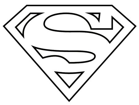 superman logo coloring pages nanny cakes superhero logo