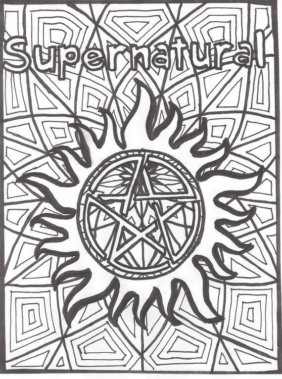 supernatural anti possession coloring page neat coloring