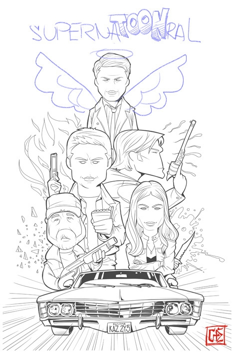 supernatural tv show coloring pages gallery fun for kids