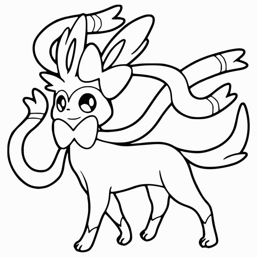 sylveon coloring page pokemon coloring pages cartoon