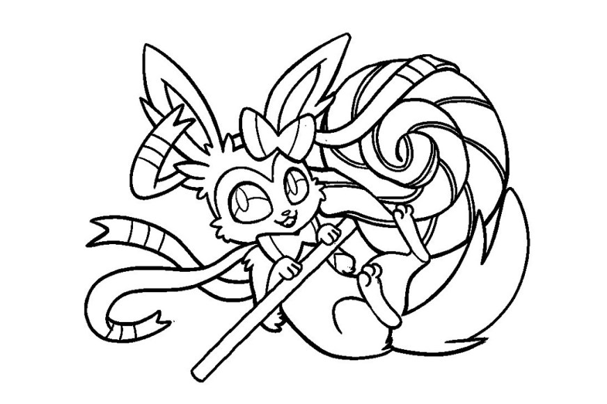 sylveon coloring pages printable printable shelter