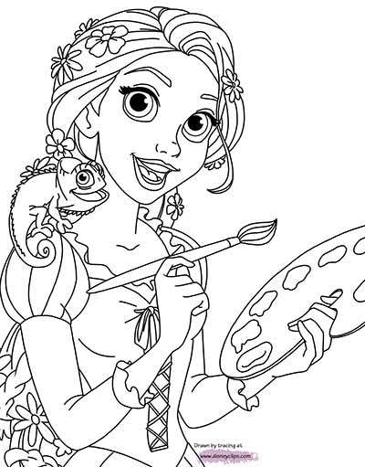 tangled coloring pages pascal at getdrawings free for
