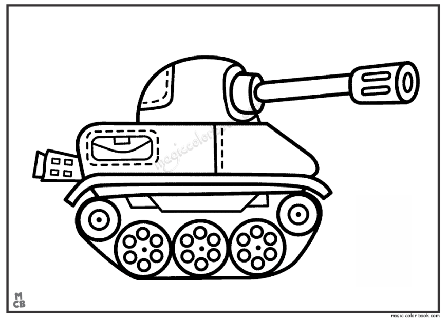 tank 74 transportation printable coloring pages