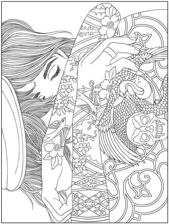 tatuagem 1 colorir livro para colorir adulto pginas