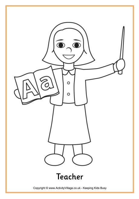 teacher colouring page 4 coloring pages for girls