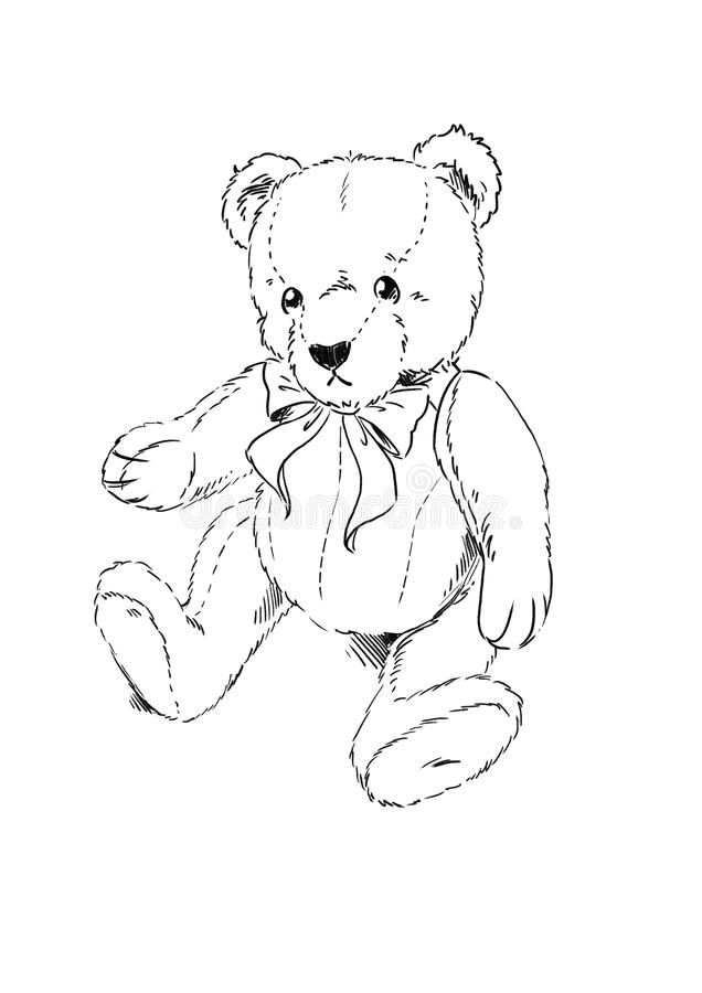 teddy bear coloring page stock illustration illustration of