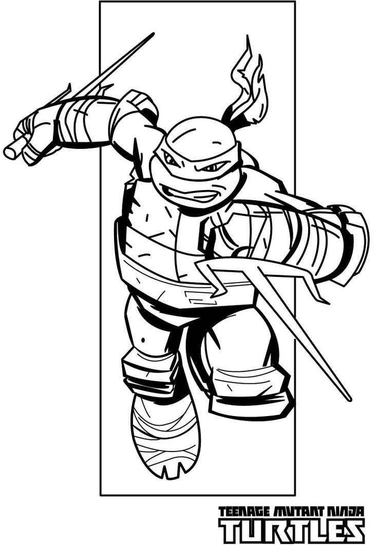 teenage mutant ninja turtles coloring pages raphael ninja