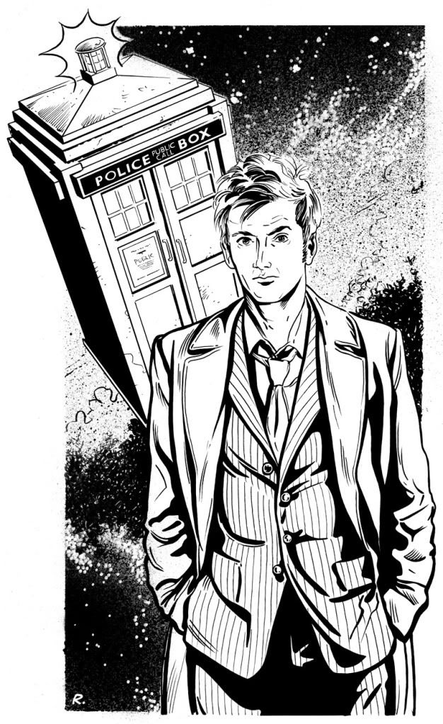 tenth doctor coloring page doctor who doctor who fan art