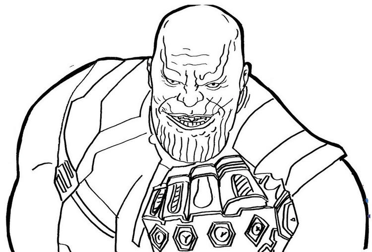thanos infinity war coloring page fun for kids