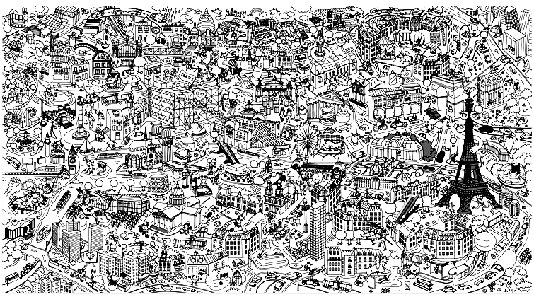the city of light paris adult coloring pages