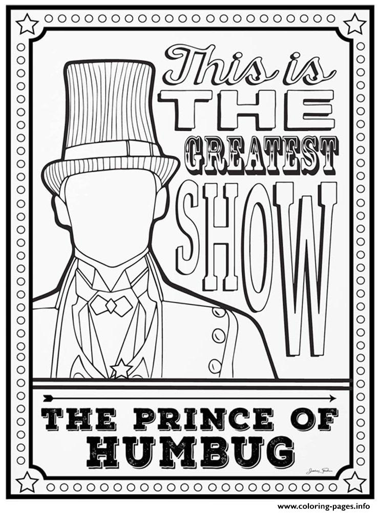 the greatest showman the prince of humbug coloring pages