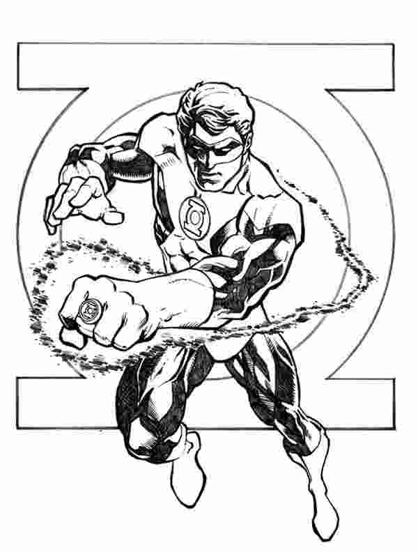 the green lantern coloring pages green lantern coloring
