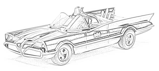 the holiday site coloring pages of batman and batmobile
