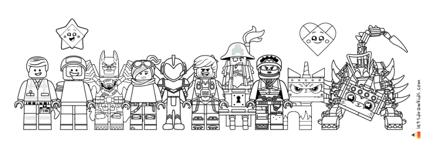 the lego movie 2 drawing lego minifigures coloring pages