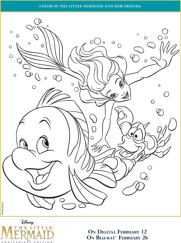 the little mermaid coloring pages free printables april