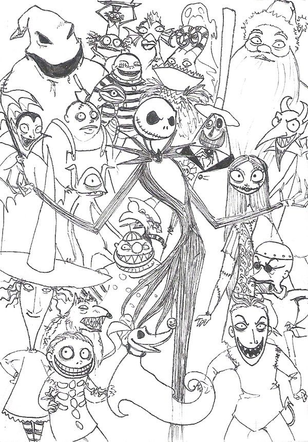the nightmare before christmas coloring pages jack