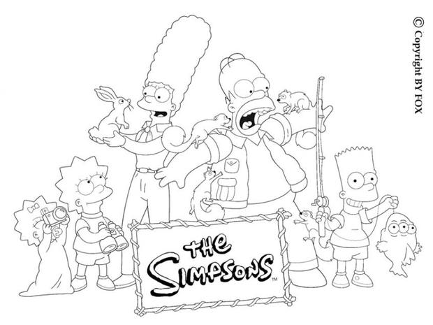 the simpsons free online coloring pages for kids