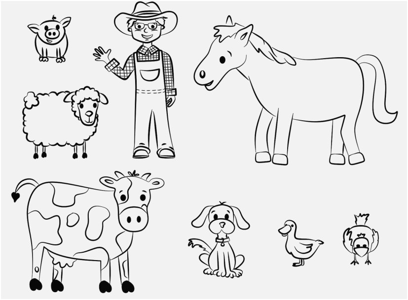 the superior concept printable farm animals coloring pages