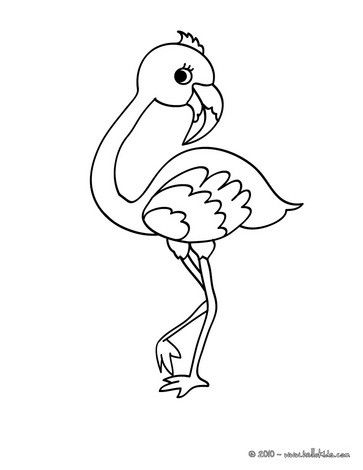 there is a new cute flamingo in coloring sheets section