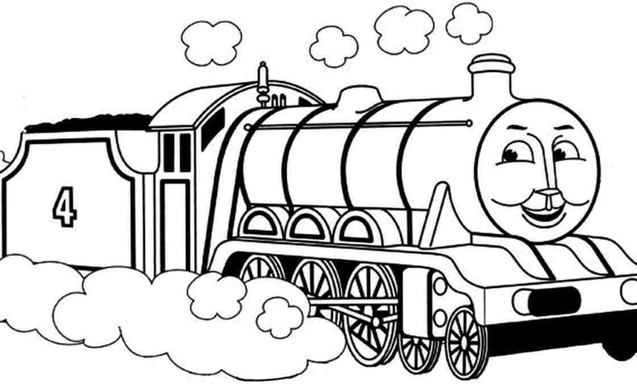thomas the train free coloring pages