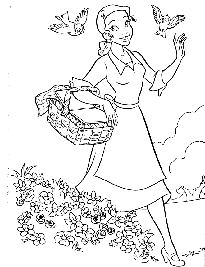 tiana colouring pages disney princess coloring pages