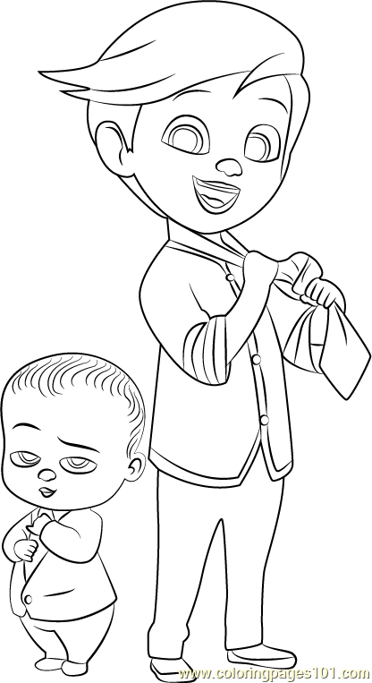 tim and boss ba coloring page free the boss ba
