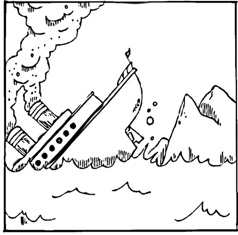 titanic coloring page free printable coloring pages