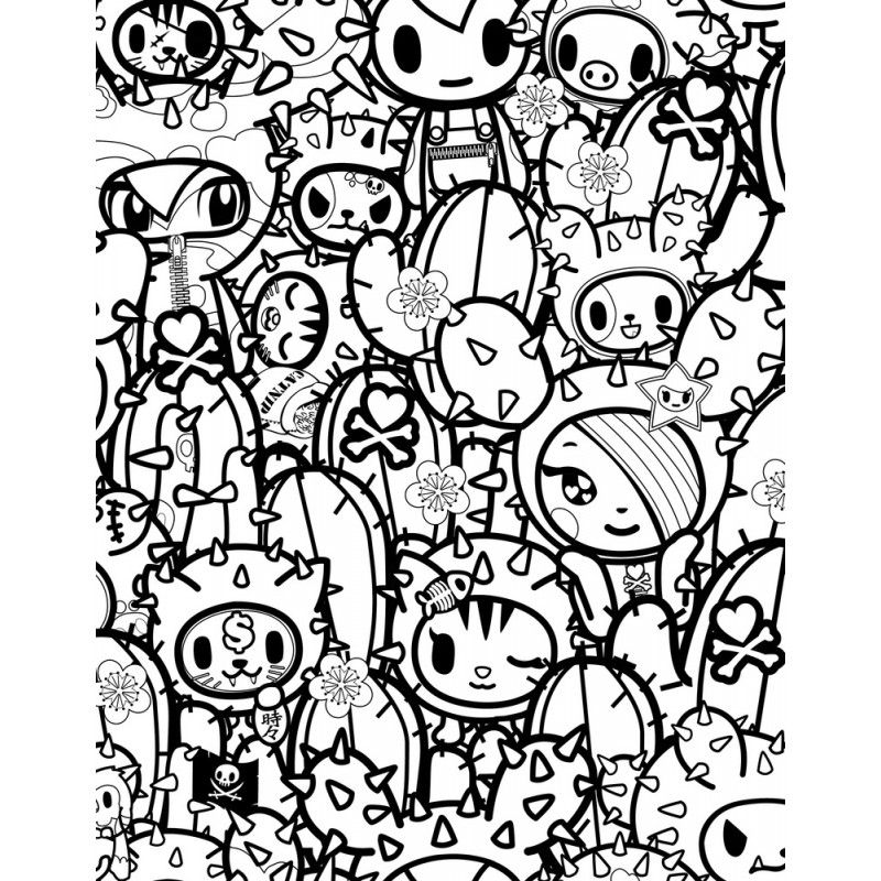 tokidoki coloring pages designs canvas candy coloring