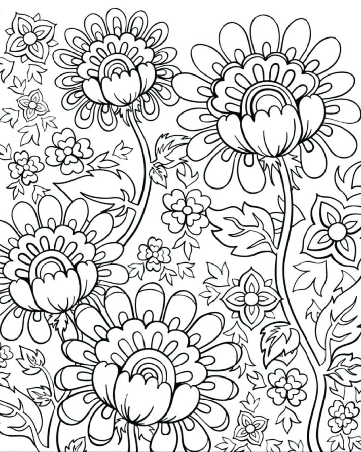 top 49 bang up coloring picture free spring flowers pages