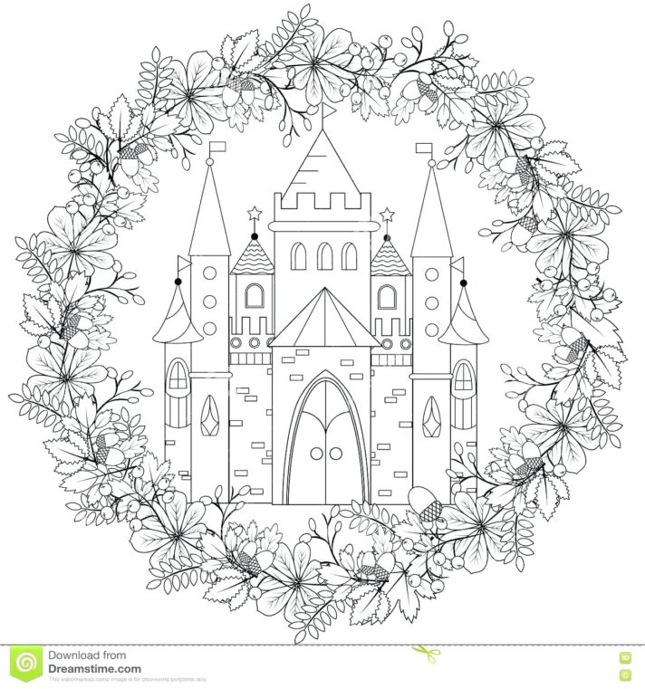 top 61 marvelous princess castle coloring pages page royal