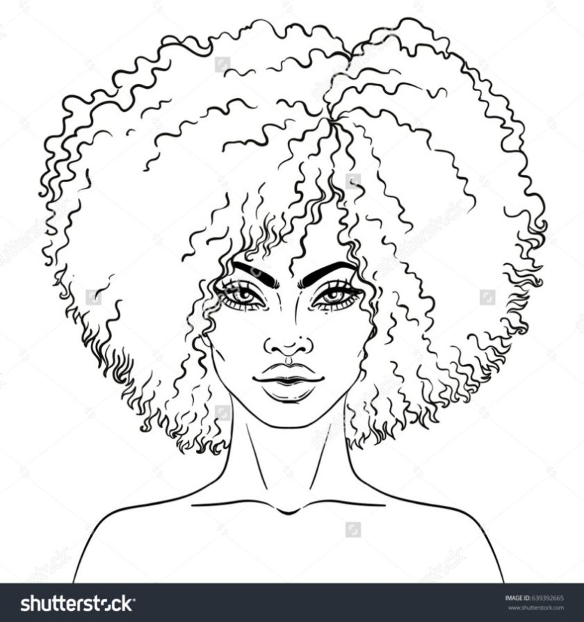 top coloring pages african girl coloring at getdrawings