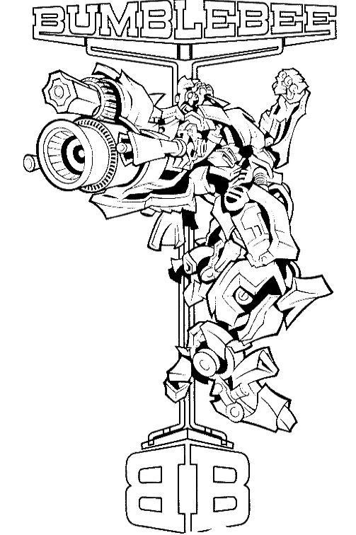 transformers bumblebee coloring page transformer coloring