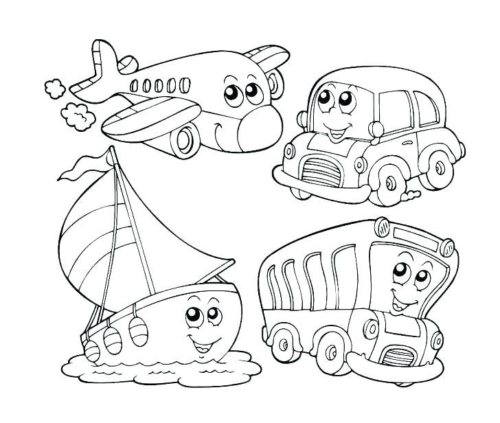 transportation coloring sheets for toddlers pusat hobi