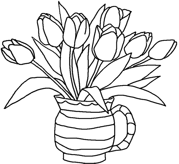tulip coloring pages free printable coloring pages for kids