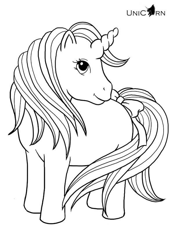 unicorn a really cute girl unicorn coloring page make