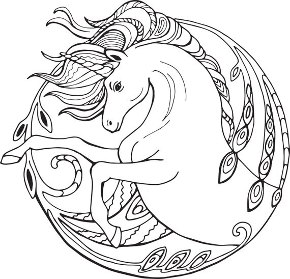 unicorn coloring pages for adults 2 printable coloring pages instant download jpg