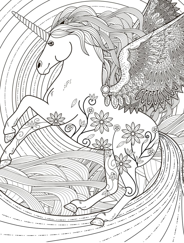 unicorn coloring pages for adults best coloring pages for kids