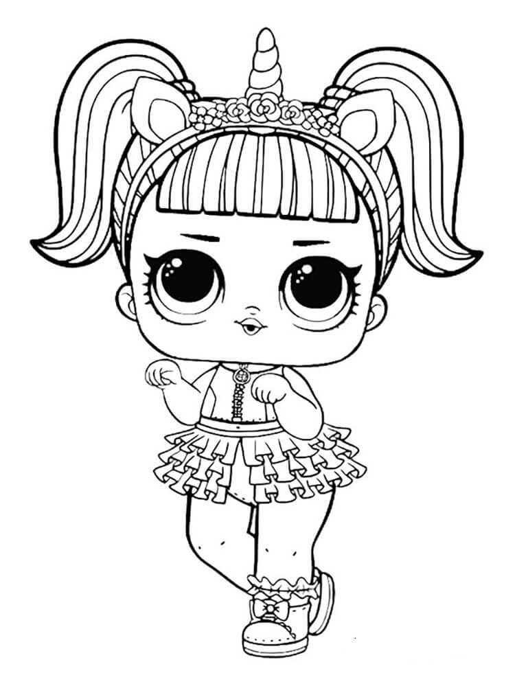 unicorn lol doll coloring page unicorn coloring pages cat