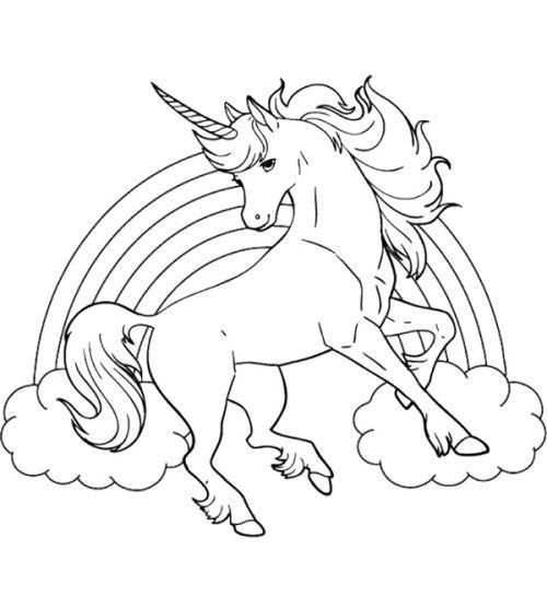 unicorn rainbow coloring page bolanhorizonconsultingco