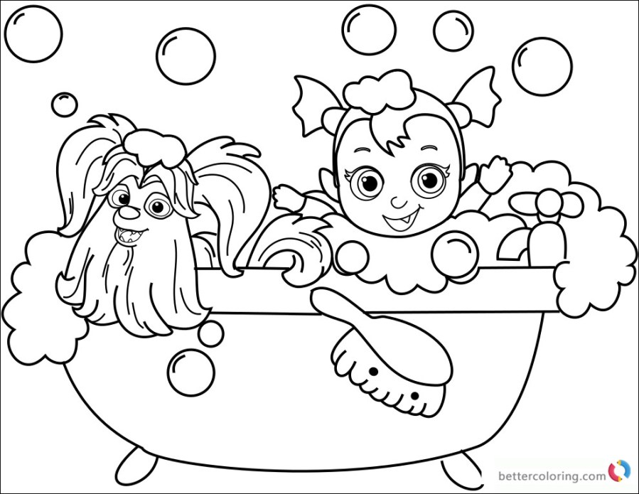vampirina coloring sheet elegant collection disney junior