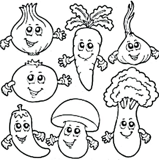 vegetables coloring pages pdf