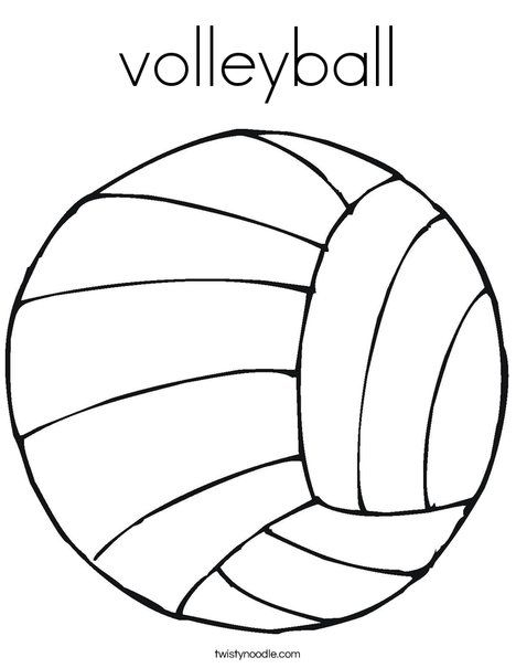 volleyball coloring page twisty noodle coloring pages