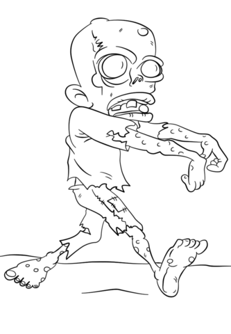 walking dead zombie coloring page free printable coloring