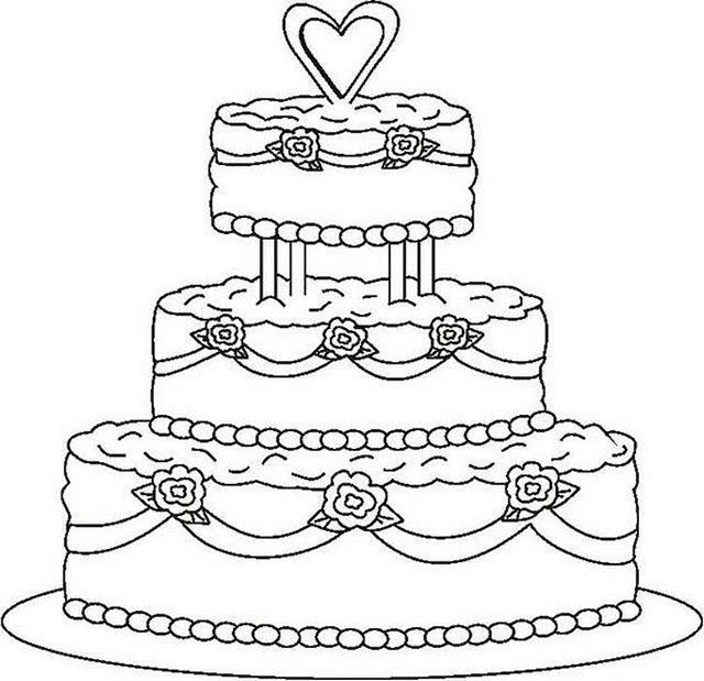 wedding cake coloring page wedding coloring pages rose