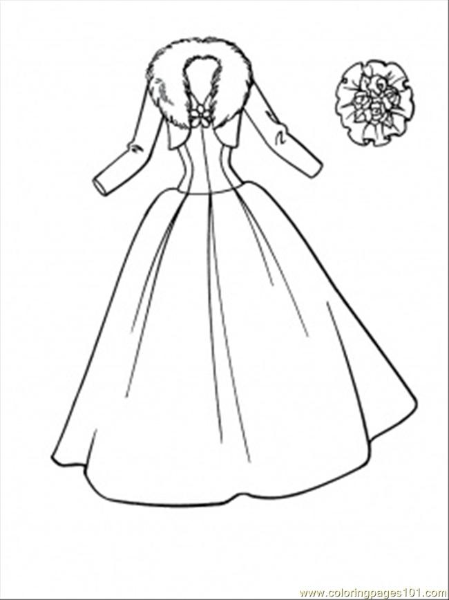 wedding dress coloring page free clothing coloring pages