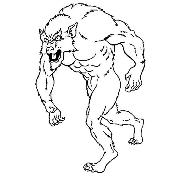 werewolf 39 characters printable coloring pages